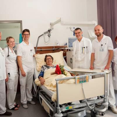 Patientin erhielt 2000. Dialyse