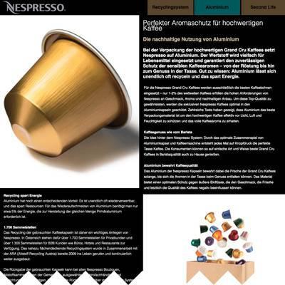 Nespresso Aluminium