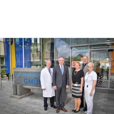 LH-Stv. Dr. Pernkopf zu Antrittsbesuch im Landesklinikum Gmünd
