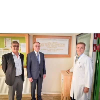 LH-Stv. Dr. Pernkopf zu Antrittsbesuch im Landesklinikum Hochegg