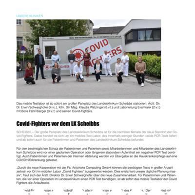 Covid-Fighters vor dem LK Scheibbs