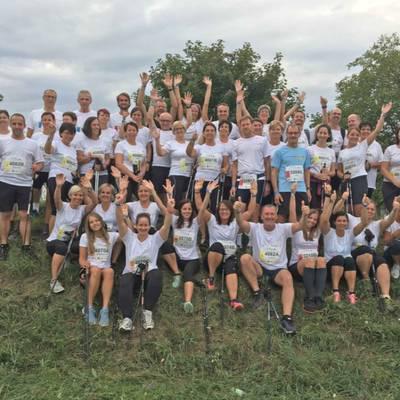 Mitarbeiterinnen und Mitarbeiter des Landesklinikum Scheibbs nehmen beim Vision Run teil