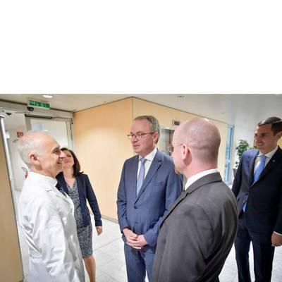 LH-Stv. Dr. Pernkopf zu Antrittsebesuch im UK St. Pölten