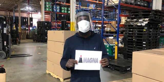 世界需要防护面罩的时候,麦格纳采取了行动
