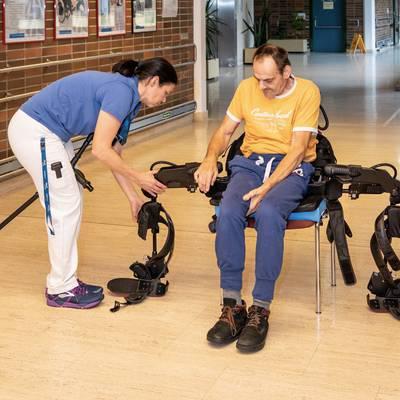 Bewegende Ereignisse mit dem bionischen Anzug