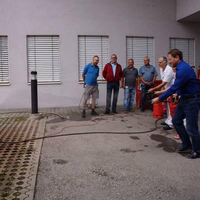 Mitarbeiter für Brandfall gerüstet