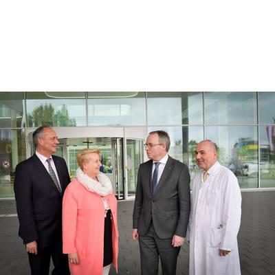LH-Stv. Dr. Pernkopf zu Antrittsbesuch im Klinikstandort Baden