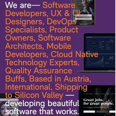 We are developing beautiful software that works.