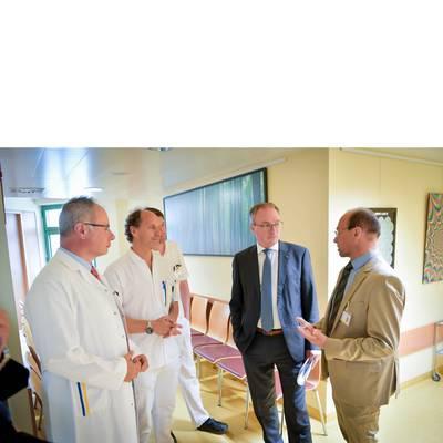 LH-Stv. Dr. Pernkopf zu Antrittsbesuch im Landesklinikum Horn