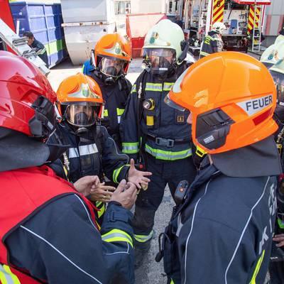 Große Feuerwehrübung