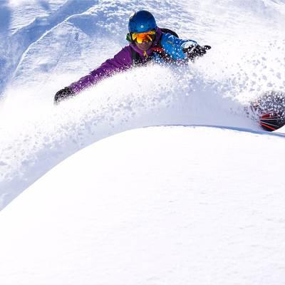 Surfen am Schnee