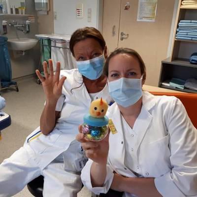 Osterhase im Klinikum