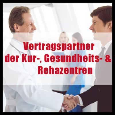 Vertragspartner der führenden Kur-, Gesundheits- &Rehabilitationszentren
