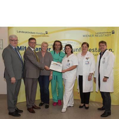 Verleihung der Urkunden im Landesklinikum Wiener Neustadt