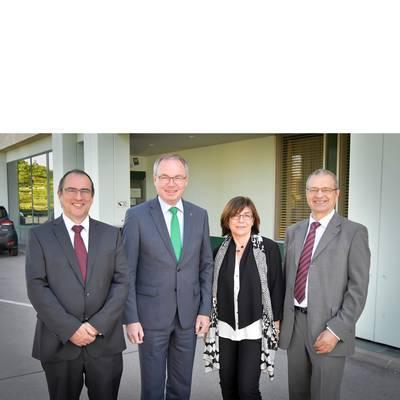 LH-Stv. Dr. Pernkopf zu Antrittsbesuch im Landesklinikum Stockerau