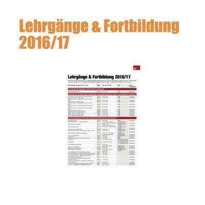 Lehrgänge & Fortbildung 2016/17