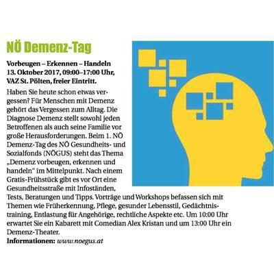 NÖ Demenz-Tag