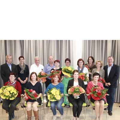 Landesklinikum Scheibbs ehrt langjährige Mitarbeiterinnen und Mitarbeiter